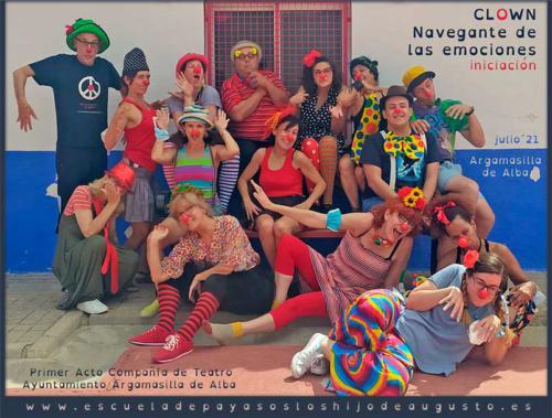 Clown, navegante de las emociones_ Iniciación_ ARGAMASILLA DE ALBA _ julio 2021